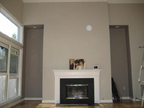 Williams Modern Gray Fireplace Living Room After Paint Job