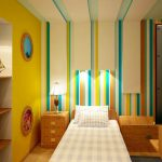 Yellow Paint And Green Turquoise Stripes