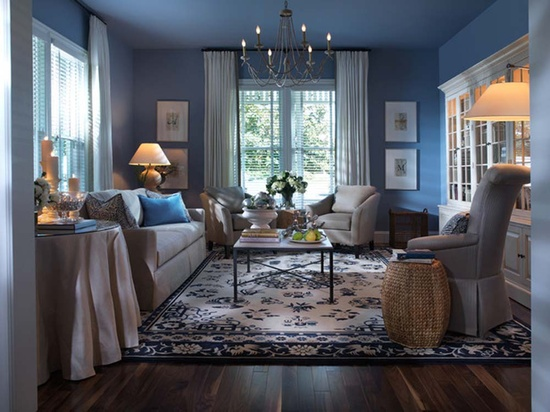 You Can Also Paint The Ceiling Blue And Get Living Room Carpet
