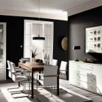 Room Paint Colors For Your House Dark Black White Dining