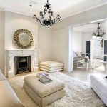 White Living Room Off Walls Cream Flokati Rug And