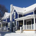 Blue Color Exterior Paint Combination