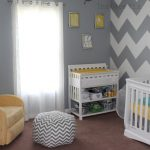 Full Imagas Stripped Grey And White Wall Nursery Paint Ideas