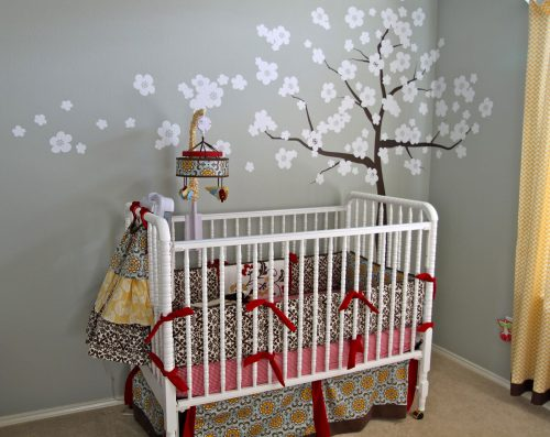 Girl Nursery Ideas Purple Decozt Picture Gallery Home Interior