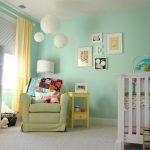 Green Painting Bookshelves For Baby Room Colors Ideas And Interior