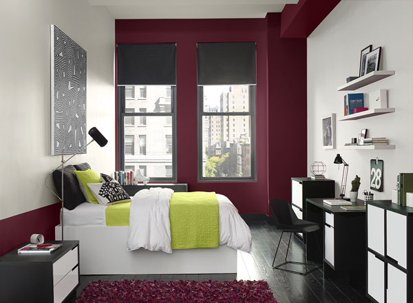 Accent Colors Black White Bedroom Home