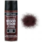All Purpose Dark Oak Satin Spray Paint Brown Wood Stain