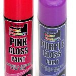 All Purpose Purple Pink Gloss Spray Cans Paint Interior Exterior