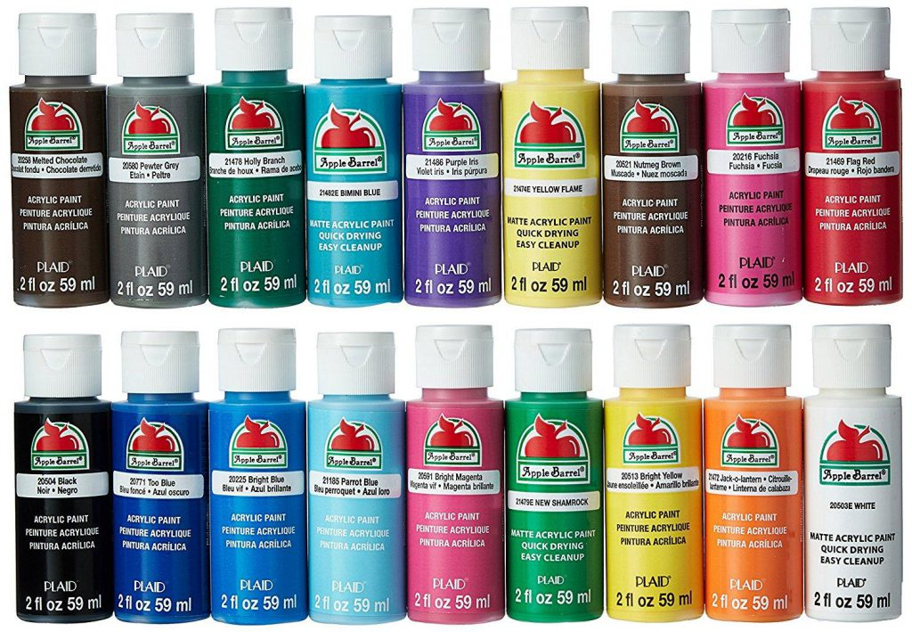 Amazon Apple Barrel Acrylic Paint Set Piece Ounce Promoabi Assorted