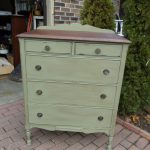 Annie Sloan Chateau Grey Dark Wax Stained Top Painted Furniture