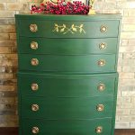 Annie Sloan New Chalk Paint Amsterdam Green Dark Wax Layered Over General