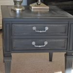 Annie Sloan Paint Graphite House Babs End Table Makeover