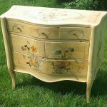 Antique Beautiful Hand Painted Dresser Night Stand Flint Horner Flowers