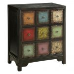 Antique Chest Drawers Accent Style Vintage Dresser Colored Hand Painted New
