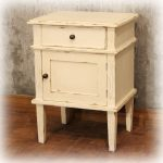 Antique Furniture White Painted Bedside Indonesian