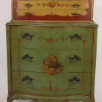 Antique Robert Irwin Hand Painted Dresser Chest Drawers Shipping