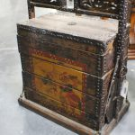 Antique Wedding Trunk Hand Painted Asian Box Slc Furniture Sale Event