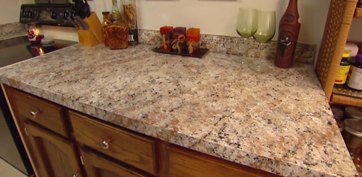 Apply Faux Granite Kitchen Countertop Paint Today