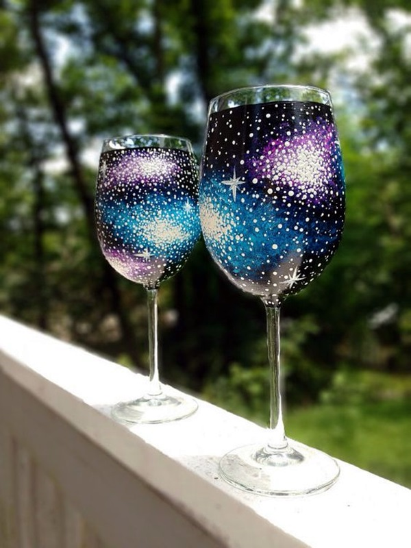 Istic Wine Glass Painting Ideas Bored
