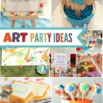 Arts Crafts Themed Painting Party Ideas Spaceships Laser