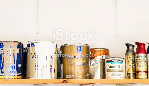 Assorted Cans Paint Spray Wood Stain More
