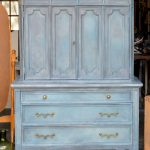 Aubusson Armoire Chalk Paint Mix Before After Painted