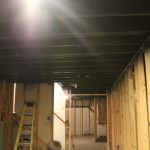 Basement Remodel Painted Exposed