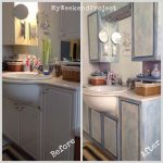 Bathroom Cabinets Makeover Chalk Paint