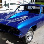 Beautiful Blue Car Paint Midnight Metallic