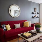 Beautiful Dark Red Paint Color Room Home
