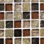 Beautiful Ivy Hill Tile Outback Brown Blend Marble Glass Bathroom