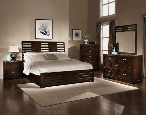 Bedroom Nice Colors Gray Wall Paint Black Dresser Bedstead