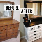Before After Diy Bedroom Dresser Makeover Drawer Black Metal Handle
