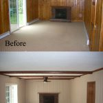 Before After Old Wall Paneling Primed Painted