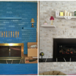 Before After Painted Brick Fireplace Anew