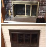 Before After Painting Fireplace Doors Brick Looks Like Mine Exactly