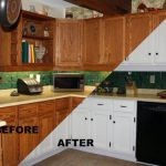 Before After Painting Old Kitchen Cabinets Modern