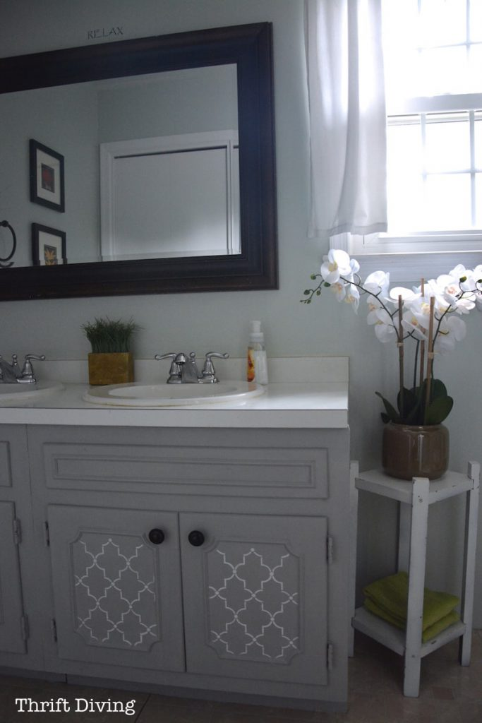 Before After Pretty Painted Bathroom