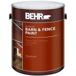Behr Gal Red Barn Fence Exterior Paint Home