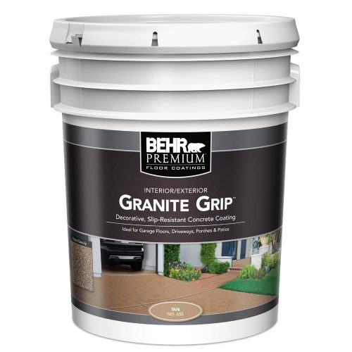 Behr Gal Tan Granite Grip Interior Exterior Concrete Paint Home