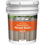 Behr Gal White Solid Color House Fence Wood Stain Home