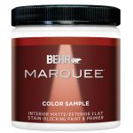 Behr Marquee Ultra Pure White Matte Interior Exterior Paint Sample Home