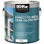 Behr Premium Gal White Semi Gloss Direct Metal Interior Exterior Paint Home