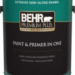 Behr Premium Plus Exterior Paint Primer One Semi Gloss Enamel Medium