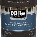 Behr Premium Plus Ultra Exterior Paint Primer One Satin Enamel Pure