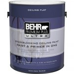 Behr Premium Plus Ultra Gal Pure White Ceiling Interior Paint Primer