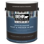 Behr Premium Plus Ultra Gal Pure White Satin Enamel Exterior Paint Home
