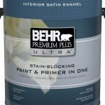 Behr Premium Plus Ultra Interior Satin Enamel Paint Primer One Medium