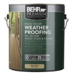 Behr Premium Solid Color Weatherproofing Wood Stain Home Depot Consumer