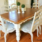 Bentleyblonde Diy Farmhouse Table Dining Set Makeover Annie Sloan Chalk